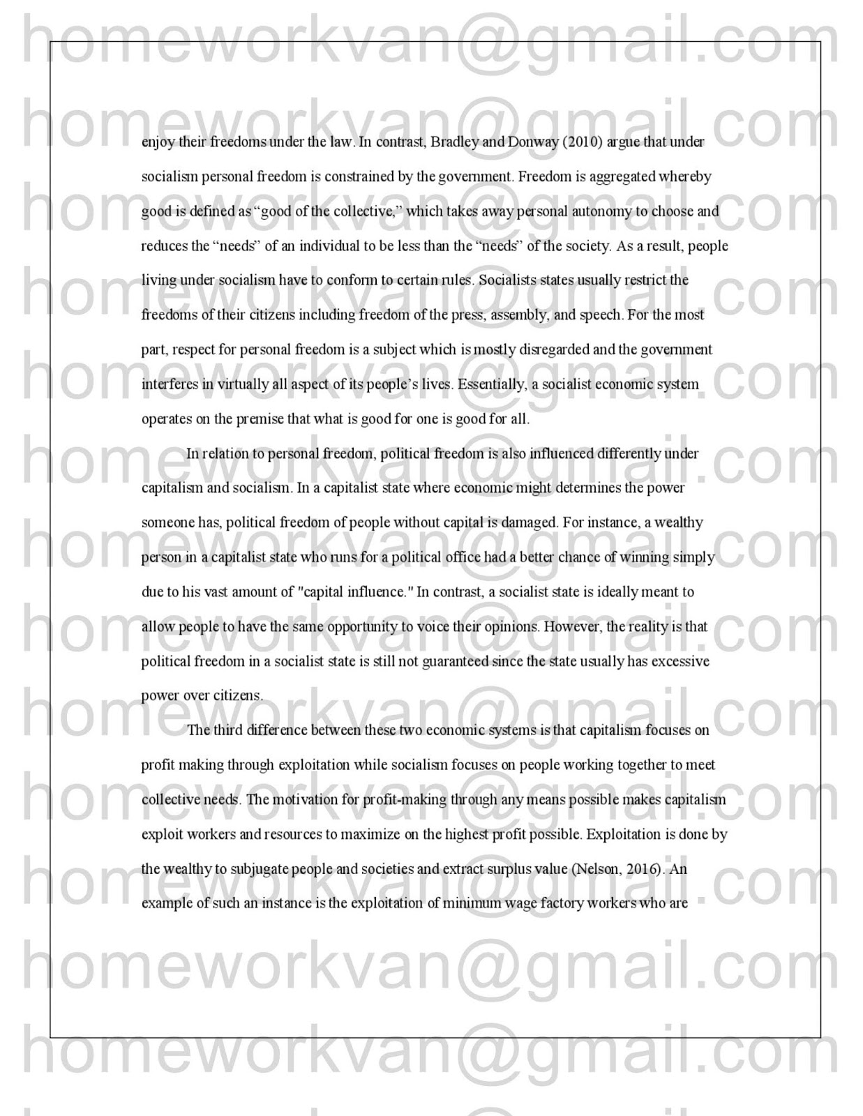 High School Reflective Essay Examples The Following Is Plagiarism Report For Compare And Contrast Essay A  Comparison Of Capitalism And Socialism Economic Systems Essay  By  Homeworkvan English Essays Book also Sample Of Research Essay Paper Homeworkvan Official Blog Compare And Contrast Essay A Comparison  Pmr English Essay