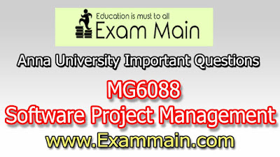 MG6088 Software Project Management