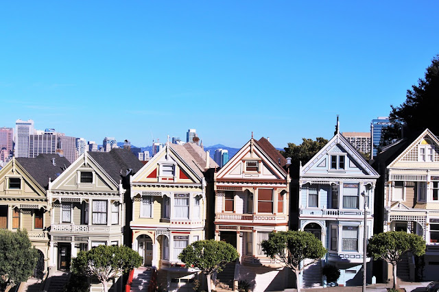 The famous Painted Ladies, San Francisco - California travel blog