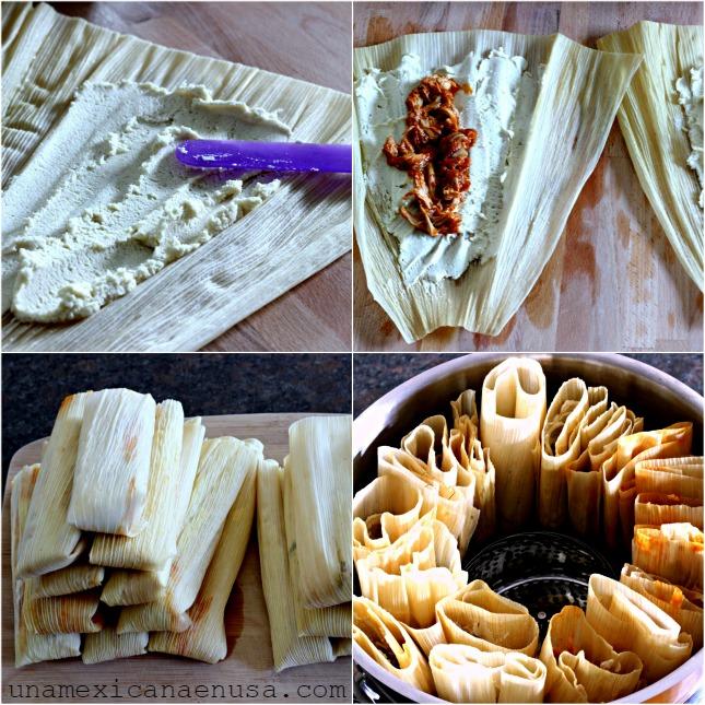Cómo hacer tamales con dos rellenos: pollo y rajas con queso Cómo hacer tamales con dos rellenos: pollo y rajas con queso