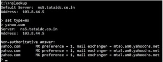 nslookup-mail-server-checking
