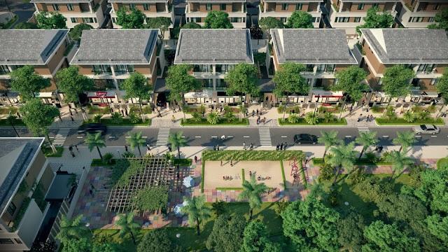 Phối cảnh dự án biệt thự Dương Nội.
