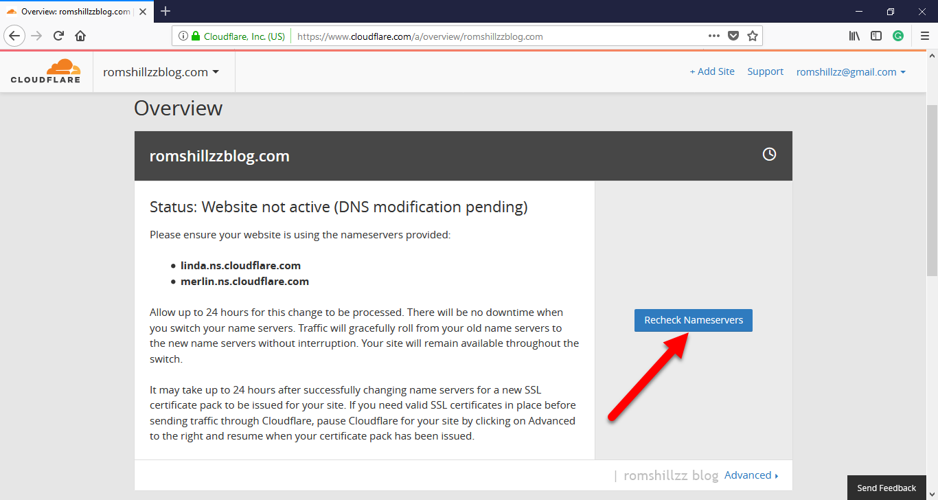 How to create a cloudflare account and add a website romshillzz congratulations your website now is active on cloudflare 1betcityfo Image collections