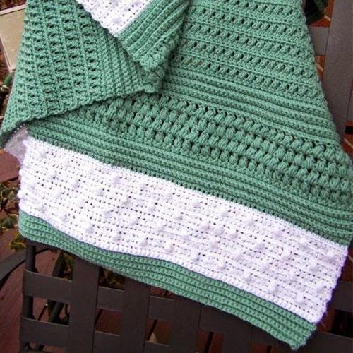 Crochet Guide Crocheted Textured Reversible Lap Blanket