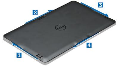 Removing the base cover Dell Latitude 10 – ST2e