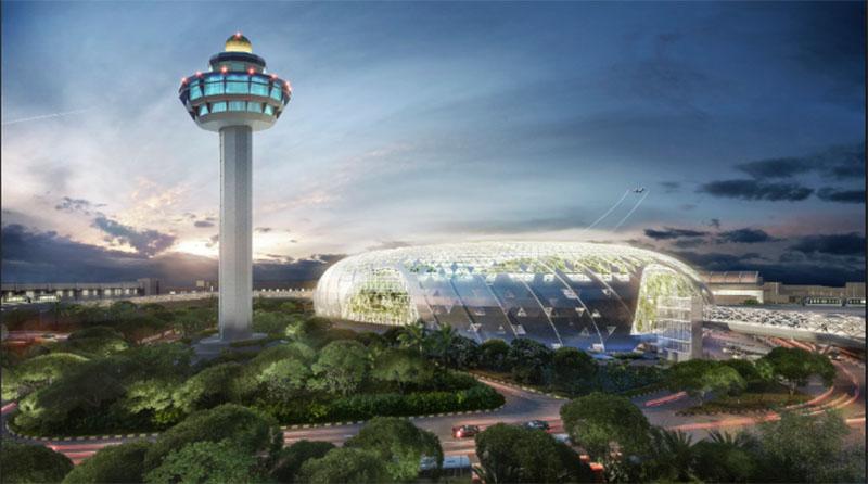 Jalan-Jalan ke Jewel Changi Airport, Air Terjun Indoor Terbesar di Dunia, foto jewel changi airport