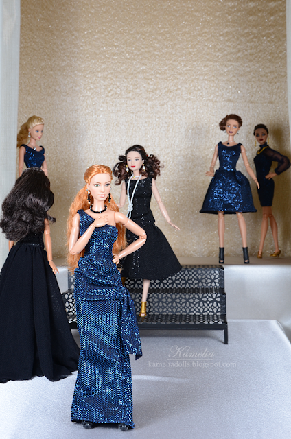 Fashion show with Barbie dolls