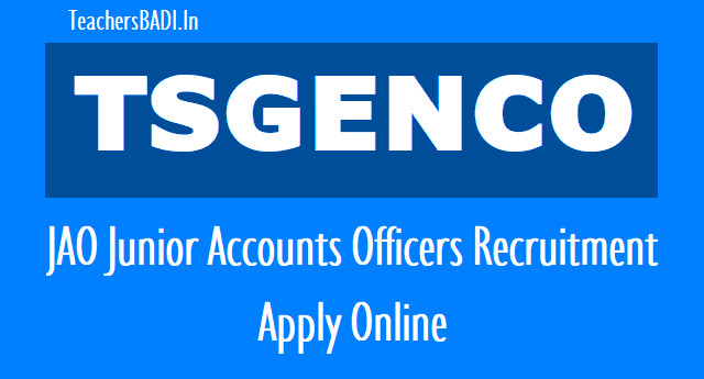tsgenco jao junior accounts officers  recruitment 2018,apply online,tsgenco jao junior accounts officers recruitment 2018,hall tickets exam date,tsgenco jao junior accounts officers recruitment 2018 resultsresults