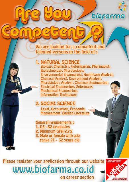 Lowongan BUMN Biofarma Oktober 2012 untuk Bidang Ilmu Alam & Sosial