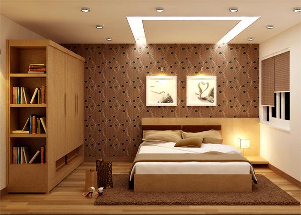 Chiều cao trần nhà phòng ngủ là bao nhiêu?