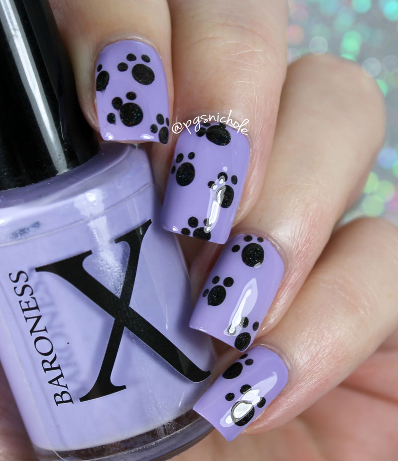 Bedlam Beauty: Twin Paw Print Nail Art with Courtney of Polished Lifting