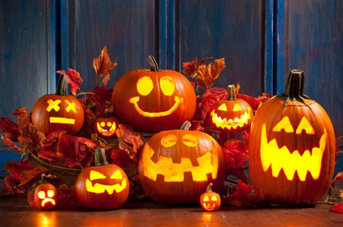 Beautiful Outdoor Halloween Pumpkin Lights