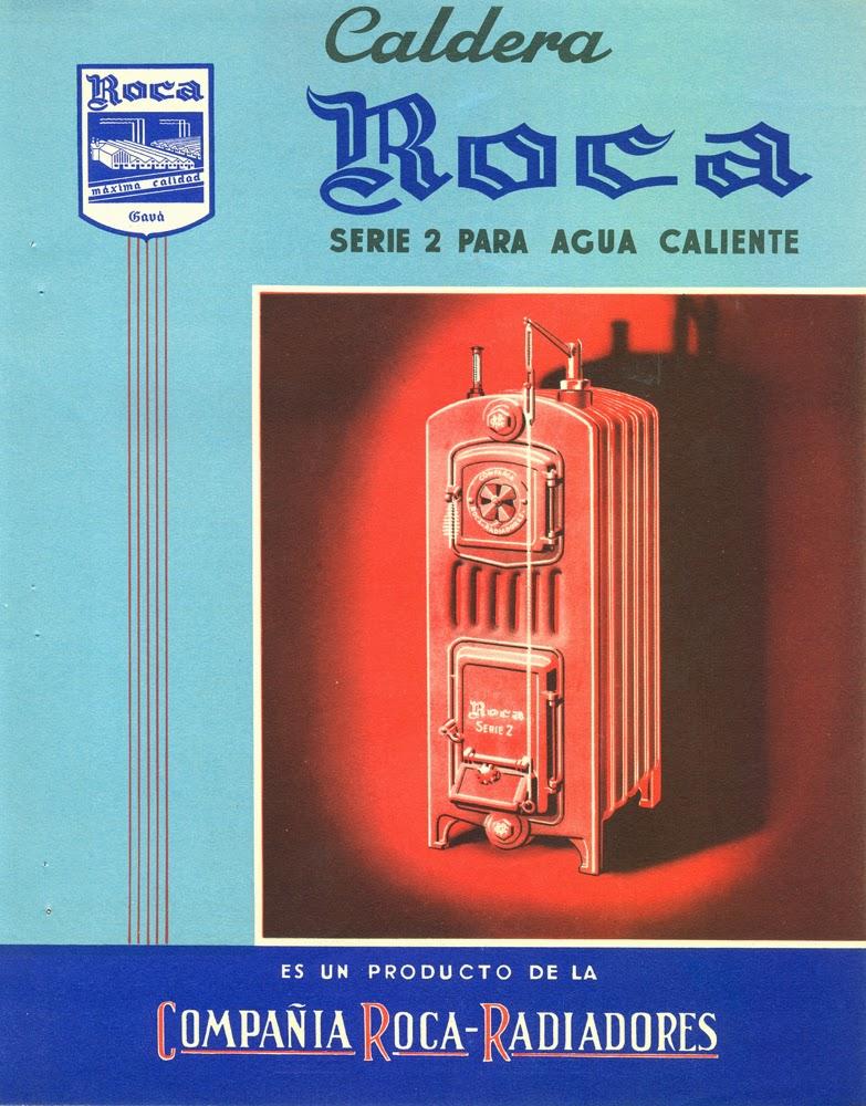 Turoliense cat logos compa a roca radiadores a os 1940 1952 for Radiadores toalleros roca