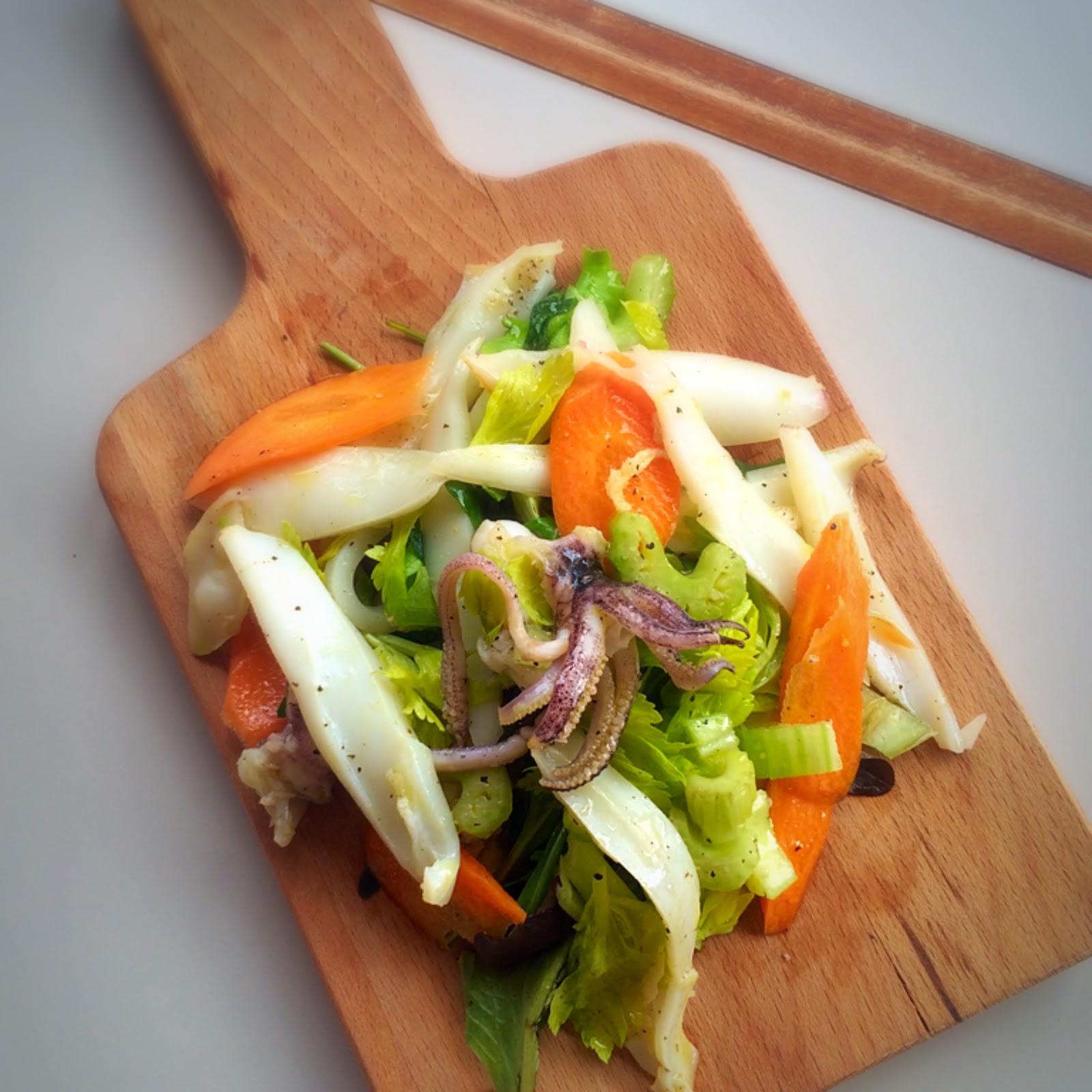 ricetta Insalata calamaro sedano carota