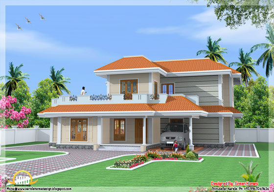 2666 Square Feet 4 bedroom indian model house - May 2012