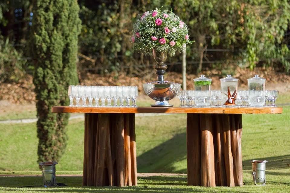 cerimônia - casamento ao ar livre - decoração - casamento de dia - bar - drinks - vale verde betim