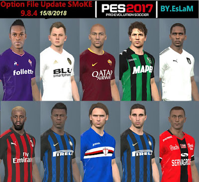 PES 2017 SMoKe Patch 2017 Option File 15/08/2018 Season 2018/2019