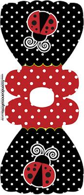 Ladybug Party Free Printable Dress Invitations.