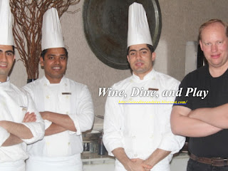 At the Cafe Arabesque in Dubai where Wine Dine And Play met with the Chef's