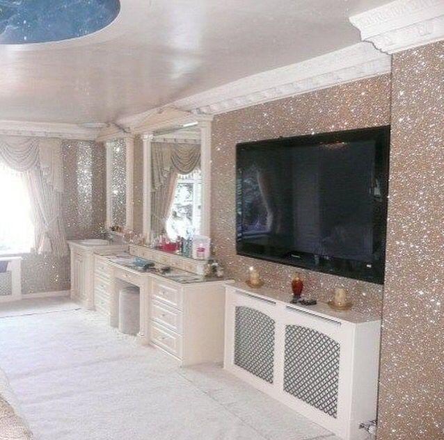 Grupo constructor c l glitter en las paredes - Pintura pared purpurina ...