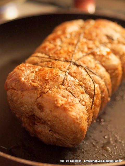 schab sztygarski, schab pieczony nadziewany kielbasa, kuchnia polska, danie regionalne, kuchnia slaska, wieprzowina, co na obiad, mieso pieczone
