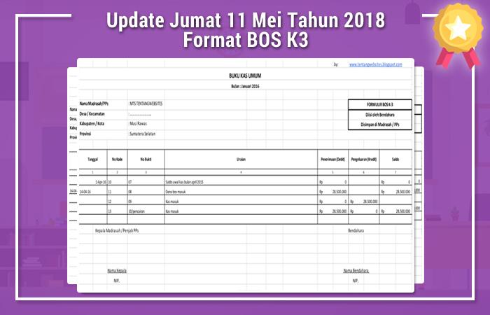 Update Jumat 11 Mei Tahun 2018 Format BOS K3