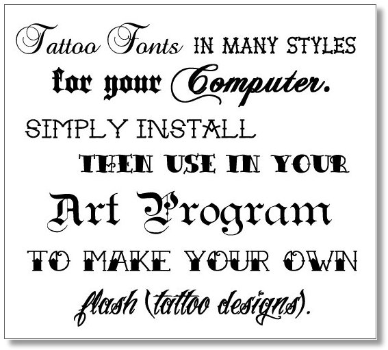 Tattoo Sexy The Most Creative Fonts