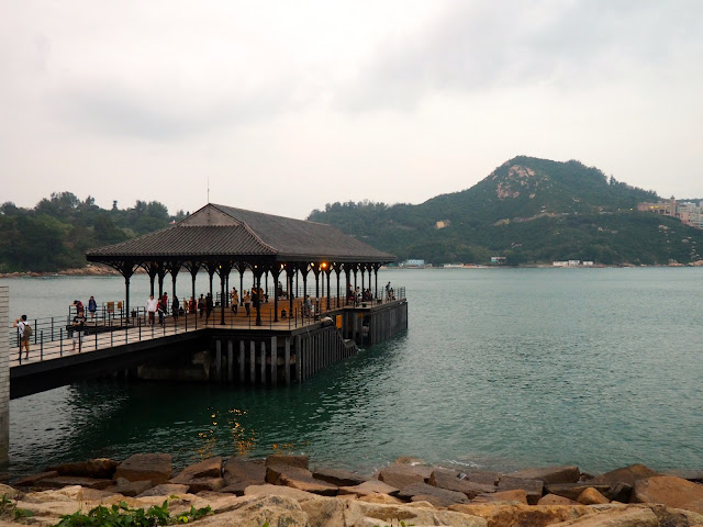 Blake Pier in the harbour of Stanley on Hong Kong island