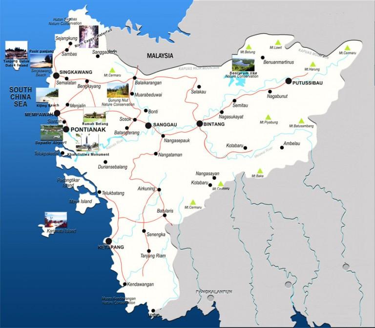 Gambar Peta Kalimantan Barat