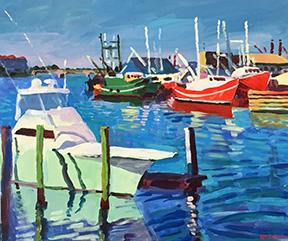 Stephen Moore artist Beaufort Boats