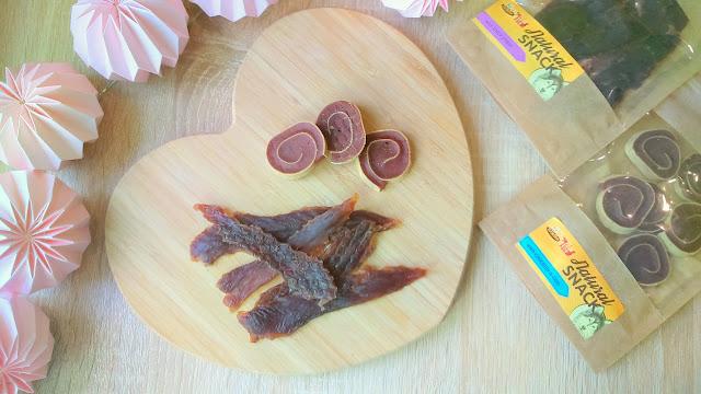krakvet natural snack przysmak dla psa z kurczakiem i dorszem oraz z kawałkami kaczki