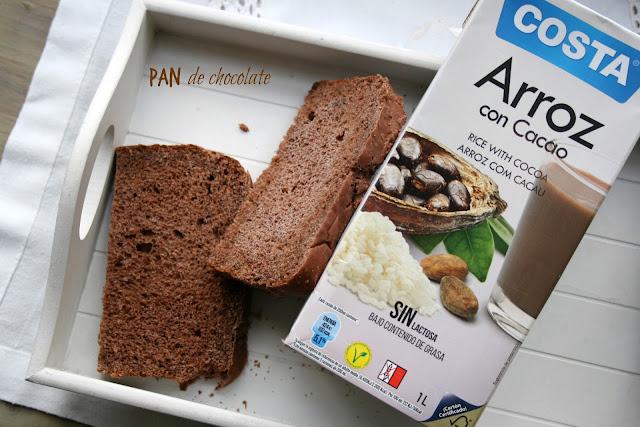 Pan de chocolate, panificadora, pan de desayuno