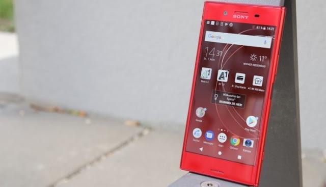 هاتف Xperia XZ Premium الأحمر هاتف سوني المتطورة