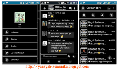 Download Gratis BBM Mod MR Black
