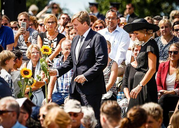 King Willem-Alexander and Queen Maxima attend the MH17 remembrance ceremony and the unveiling of the National MH17 monument in Vijfhuizen