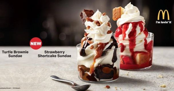 McDonald's Testing New Turtle Brownie and Strawberry ... | 609 x 320 jpeg 41kB