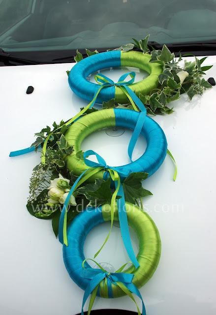dekoracja samochodu ślubnego - auto do ślubu opolskie