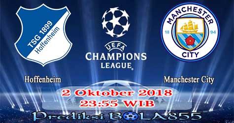 Prediksi Bola855 Hoffenheim vs Manchester City 2 Oktober 2018