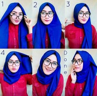 Tutorial hijab pashmina simple terbaru
