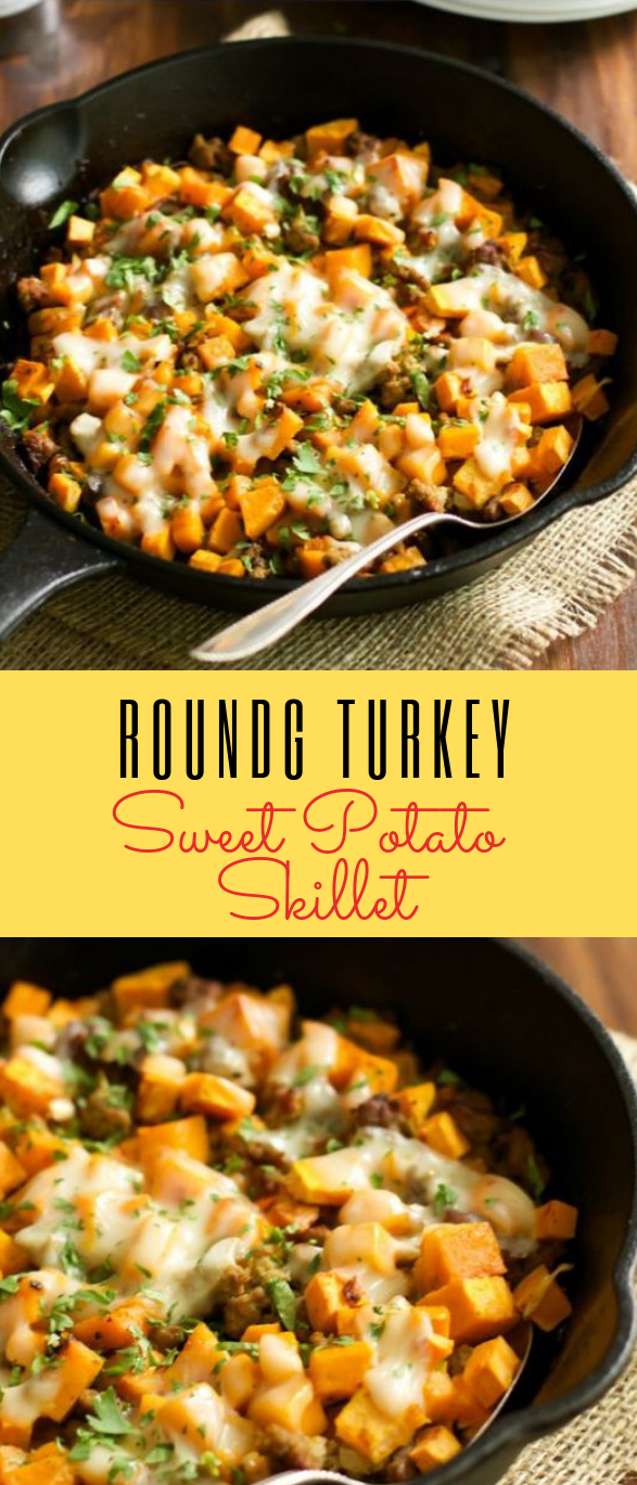 Ground Turkey Sweet Potato Skillet Recipe #healthyrecipe #dinner