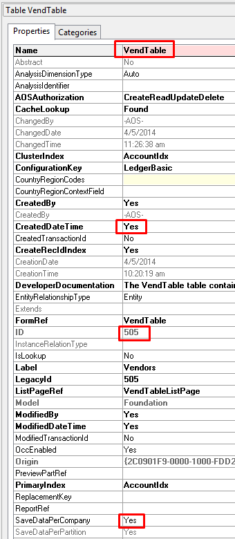 Dynamics AX/365FO: X++ Get table property