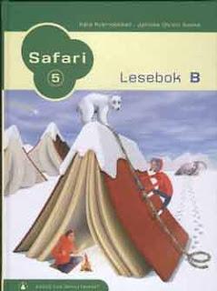 Forsiden til leseboken Safari, som diktet mitt ble utgitt i!