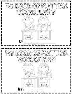 Fourth and Ten: Matter Vocabulary Booklet Freebie