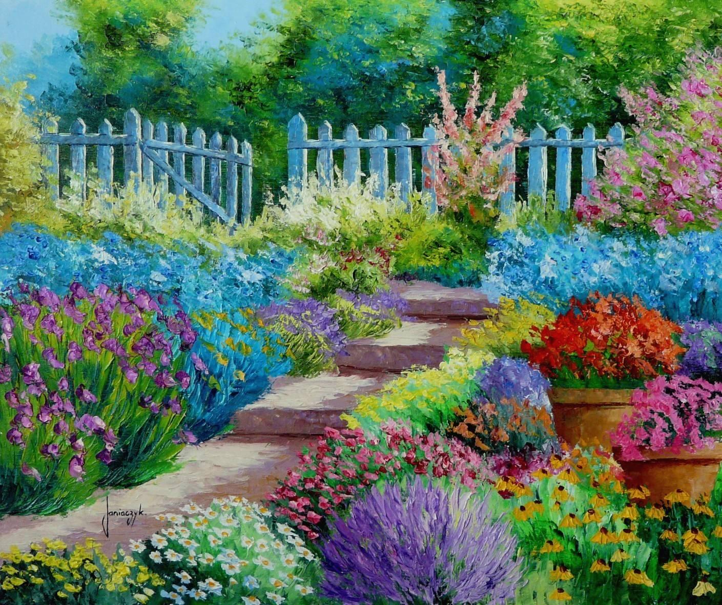 As Flores do Jardim - Cores alegres e vibrantes nas paisagens de Jean-Marc