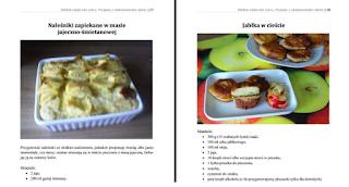 Wnętrze e-booka – zapiekane naleśniki i jabłka w cieście