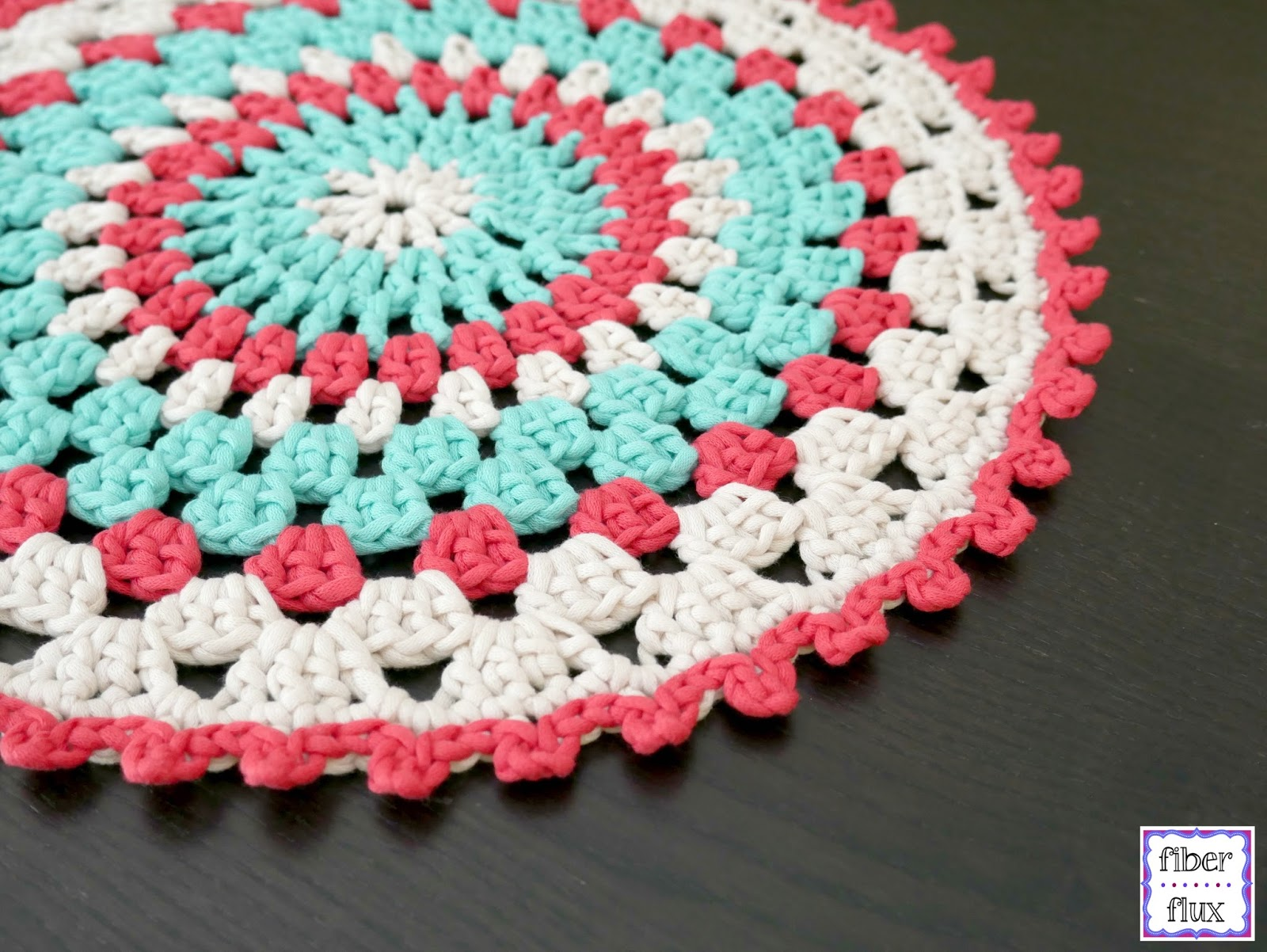 Fiber Flux: Free Crochet pattern...Coastal Placemat!