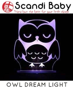 Scandi Baby dream light owl night light