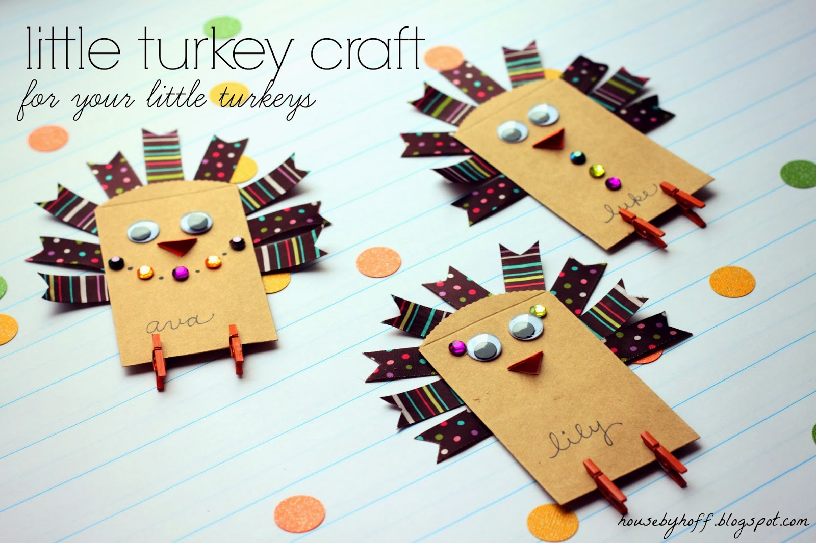 A Little Turkey Craft For Your Little Turkeys Guest Post For Eighteen25