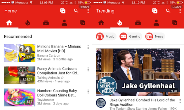 YouTube App has now updated by Google with a new design with Slide Over and Split View multitasking support and more for iOS devices