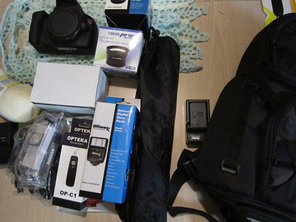 Canon Rebel T5, kit, accessories